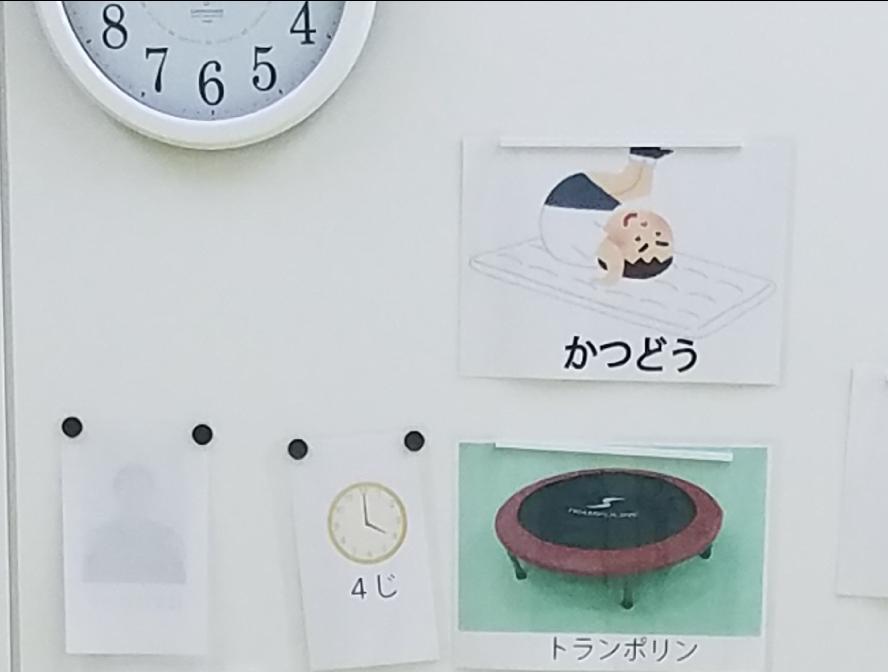 イラスト時計で表すスケジュール