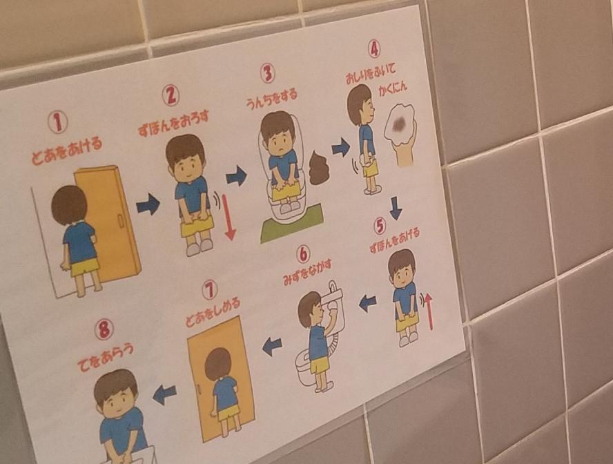 トイレの順番イラスト